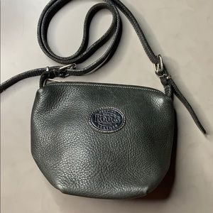 Roots Pebbled Leather Crossbody bag